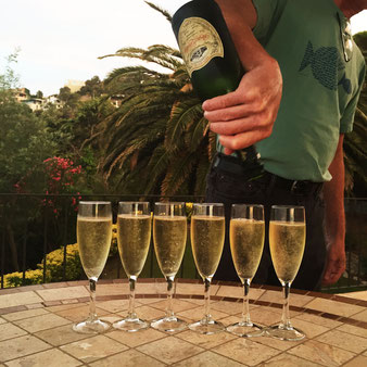 Enjoy a welcome bottle of cava when you arrive.
