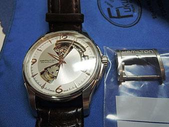 参考記事「以前ベルト交換したハミルトン腕時計」へ。