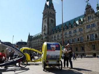 Hamburg by Rickshaw, Stadtrundfahrt