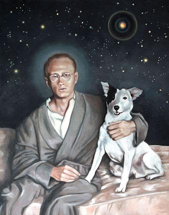 BILLY, SPACE PILGRIN-2014-acrylique et huile sur toile- 50x76 cm