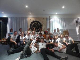 Frankfurter Crew mit Besuch nach einer Monats-Roda.