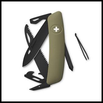 Outdoor Survival Messer Sackmesser Allblack Swiza Prepper Selbstversorger Bushcraft