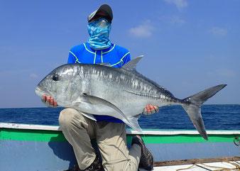 Indien, Giant Travelly, Lakkadiven, Popper, Thunfisch
