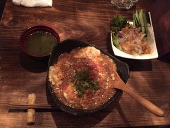 麻婆丼定食
