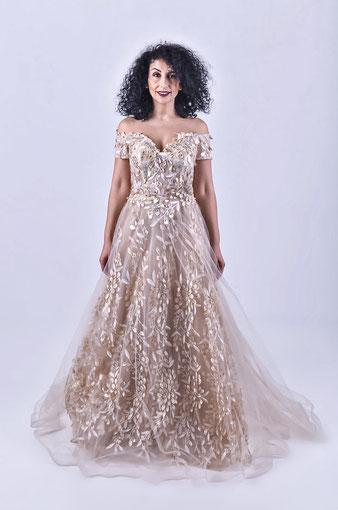 Rom; Exklusive Kleider; 3D Blumen; Ballkleider; Abendkleider