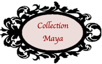 La collection Maya est une collection de tours de cou au Crochet avec perles, un mélange de coton et rocailles de Bohême en l'honneur de la Danthienne, ce lutin qui a pour principale occupation sa mise en beauté.