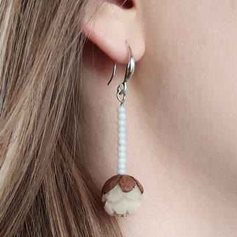 """Boucles d'oreilles de connexion """"Bouton de lotus"""""""
