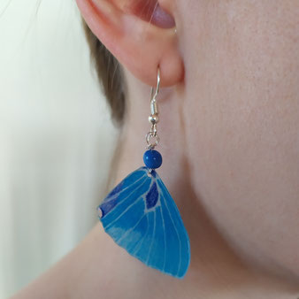 """Boucles d'oreilles féérique """"Papillon bleu"""""""