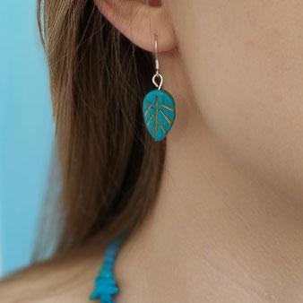 """Boucles d'oreilles """"Printemps turquoise"""""""