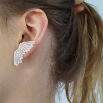 """Boucles d'oreilles angélique """"Ailes déployées"""""""