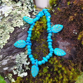 """Bracelet chamanique """"Printemps turquoise"""""""