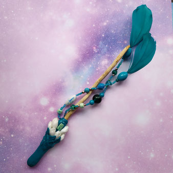 "Baguette d'intentions ""Petit bouquet"" avec amazonite"