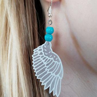 Boucles d'oreilles Ange Renaissance avec turquoise