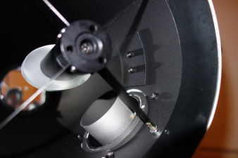 Newton Teleskop mit Velour auskleiden