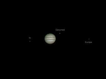 Jupiter mit dem Schatten seines Mondes Ganymed
