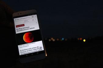 Mondfinsternis 2018, Wolken können Mondfinsternis stören