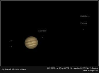 Jupiter mit Mondschatten