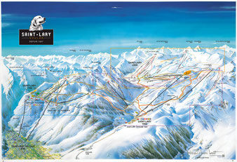 Plan piste ski saint-lary