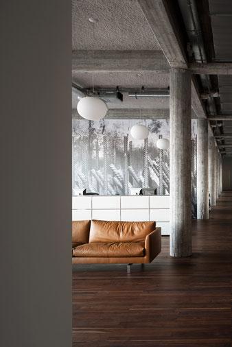 Офис в промышленном стиле