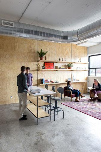 Лаунж зона в офисе