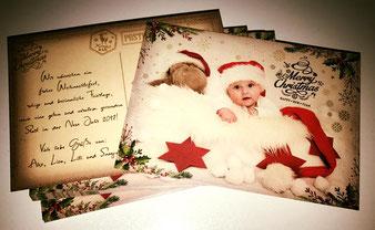 Babyshooting auf der Weihnachtskarte