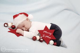 Weihnachten, Babyshooting zu Hause