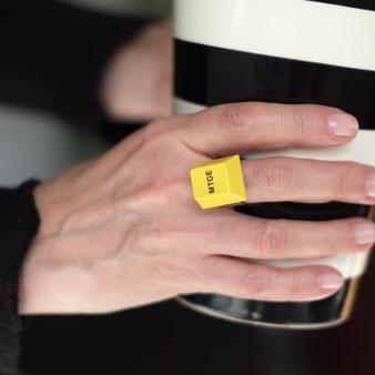 Ring aus einer Tastatur Taste