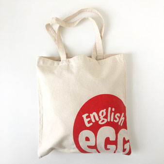 """ユーズドのトートバッグ「イングリッシュEGG」 Used Tote Bag """"ENGLISH EGG"""""""