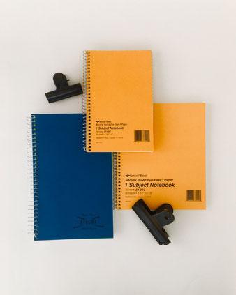 アメリカのナショナルブランド社のノート。National 33002  33004 33360 輸入文具が広まった時の先駆的なノートブックです。紙は淡い黄緑色にブルーのライン。美しいタイポグラフィデザイン リングノート 輸入ノート 日記 保存用 Smith デルフォニックス penco ヨーロッパ 外国 輸入 海外 インテリア おしゃれ かわいい 人気 おすすめ デザイン ブランド プレゼント ラッピング 通販