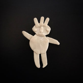 ポリマー・クレイマンのブローチ Brooch of Polymer Clay Man