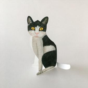 ドイツの「Gollnow Paper」の立体になる猫のグリーティグカード。絵はがき 誕生日カード メッセージカード 封筒 手紙 送る 贈る 添える お見舞い 誕生日 お祝い 出産祝い 合格祝い クリスマスカード 励ます 折り畳む 便箋 ハガキ カラフル シック 楽しい 喜ぶ 海外 輸入 外国 ヴィンテージ センス おしゃれ かわいい 人気 おすすめ デザイン プレゼント ポストカード 立つ 飾れる