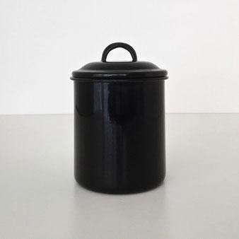 黒い琺瑯の保存ビン|Black Enamel Jar