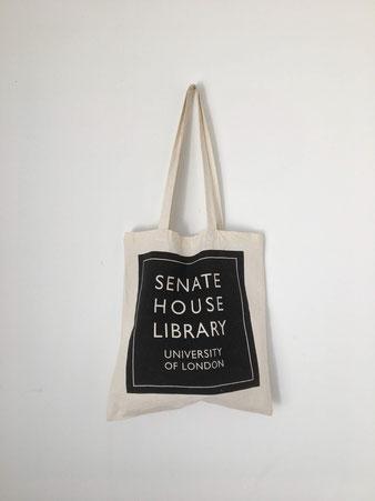 """ユーズドのトートバッグ「元老院図書館」 Used Tote Bag """"SENATE HOUSE LIBRARY"""""""