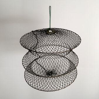 ヴィンテージ 魚 籠 網 びく