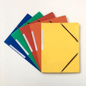 紙製のファイル ゴムバンド