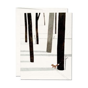 Jon Klassen(ジョン クラッセン)のイラストレーションのカード。ポストカード グリーティングカード メッセージカード レターセット 封筒付き 絵はがき 贈る 送る お祝い 誕生日カード バースデイカード レッドキャップカード RED CAP CARDS アメリカ 厚い シック 外国 輸入 海外 インテリア おしゃれ かわいい 人気 おすすめ デザイン ブランド プレゼント 通販 キツネ