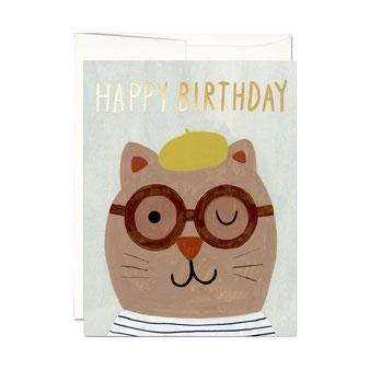 KATE PUGSLEY(ケイト・パグスリー)のイラストレーションのカード。ポストカード グリーティングカード メッセージカード レターセット 封筒付き 絵はがき お祝い 誕生日カード バースデイカード レッドキャップカード RED CAP CARDS アメリカ シック 外国 輸入 海外 インテリア おしゃれ かわいい おすすめ デザイン ブランド プレゼント 通販 ありがとう 感謝 猫 カット