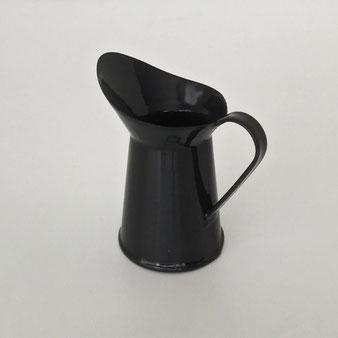 黒い琺瑯のミルクジャグ|Black Enamel Milk Jug