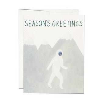 KATE PUGSLEY(ケイト・パグスリー)のイラストレーションのカード。 ポストカード グリーティングカード メッセージカード レターセット 封筒付き 絵はがき お祝い 誕生日 バースデイ レッドキャップカード RED CAP CARDS シック 外国 輸入 海外 インテリア おしゃれ かわいい おすすめ デザイン ブランド プレゼント ありがとう 感謝 雪男 イエティ 暑中見舞い 寒中見舞い