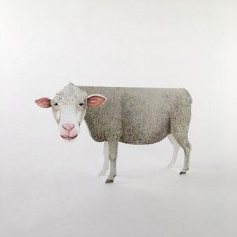 ドイツの「Gollnow Paper」の立体になる羊のグリーティグカード。絵はがき 誕生日カード メッセージカード 封筒 手紙 送る 贈る 添える お見舞い 誕生日 お祝い 出産祝い 合格祝い クリスマスカード 励ます 折り畳む 便箋 ハガキ カラフル シック 楽しい 喜ぶ 海外 輸入 外国 ヴィンテージ センス おしゃれ かわいい 人気 おすすめ デザイン プレゼント ポストカード 立つ 飾れる