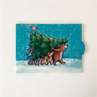 ドイツのBärenpresseのグリーティングカード。つまみを引っ張ると絵が変わる仕掛けです。ポストカード 誕生日カード メッセージカード 手紙 送る 贈る 添える お見舞い お祝い 出産祝い 合格祝い クリスマス 励ます スライド カラフル シック びっくりする 驚かせる 楽しい 喜ぶ 海外 輸入 外国 ヴィンテージ センス おしゃれ かわいい 人気 おすすめ デザイン プレゼント サプライズ