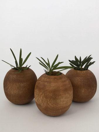 マンゴーウッド スクラッチ ベース Mango Wood Scratch Vase