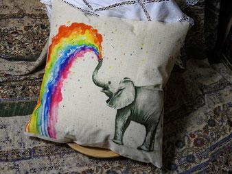 Elefant / Regenbogen