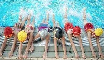 3 Schwimmarten (Kraul/Brust/Rücken) in einer Anfängerform sicher schwimmen
