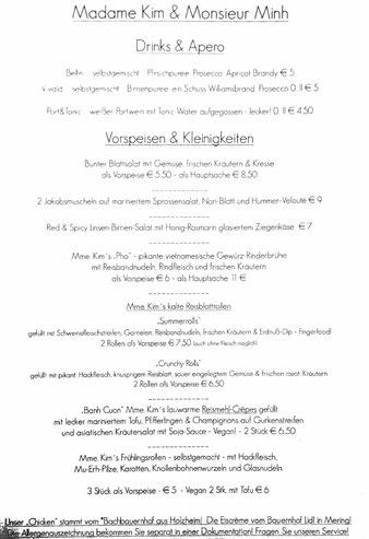 Speisekarte Madame Kim Monsieur Minh Augsburg datschiburger.kitchen Vorspeisen