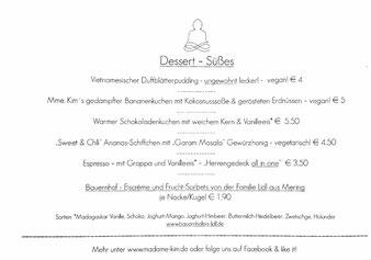 Speisekarte Madame Kim Monsieur Minh Augsburg datschiburger.kitchen Dessert