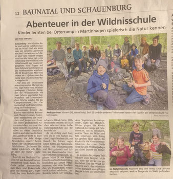 Frühlingscamp Wildnisschule Habichtswald