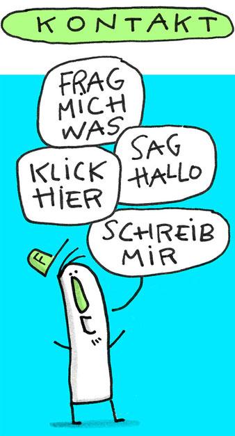 Frank Schulz Art, kleiner Mann will Kontakt