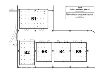 Grundriss Plan des Austria Center Vienna Säle B1 bis B5