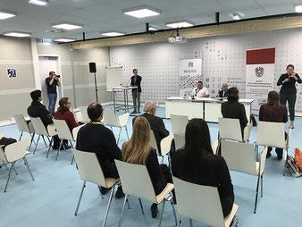 Nutzung der Induktiven Höranlage beim Österreichischen EU Ratsvorsitz